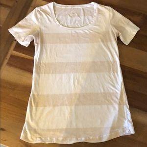 Lululemon cashew stripe t-shirt size 8